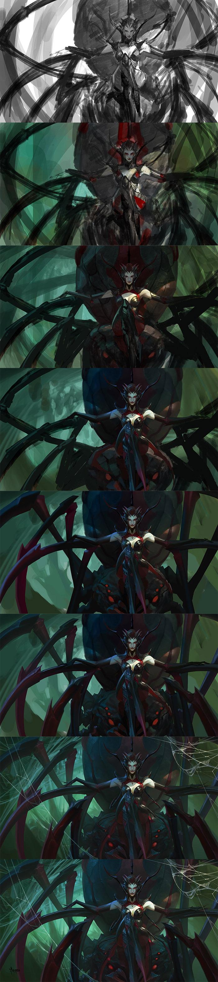 Spider Queen-step by bayardwu