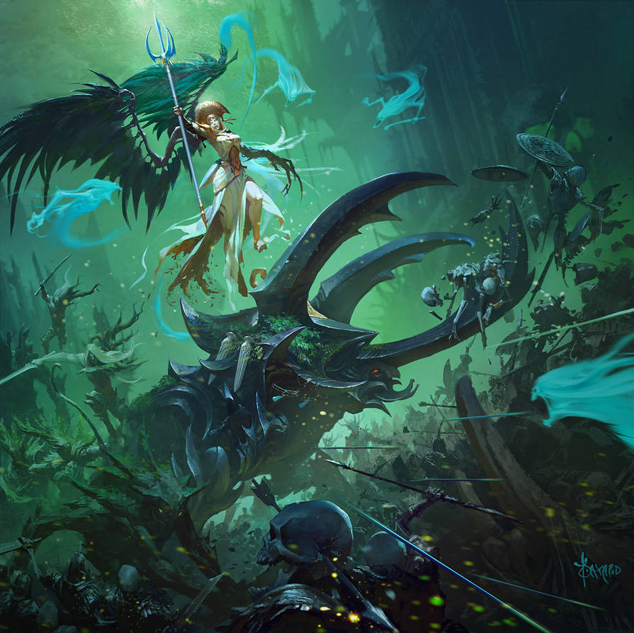 Alarielle the Everqueen Bestiary by bayardwu
