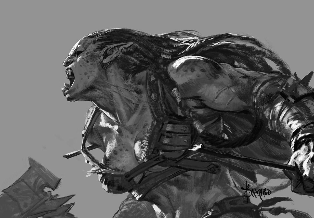 We die, we fight! Ms. Orc-14 by bayardwu