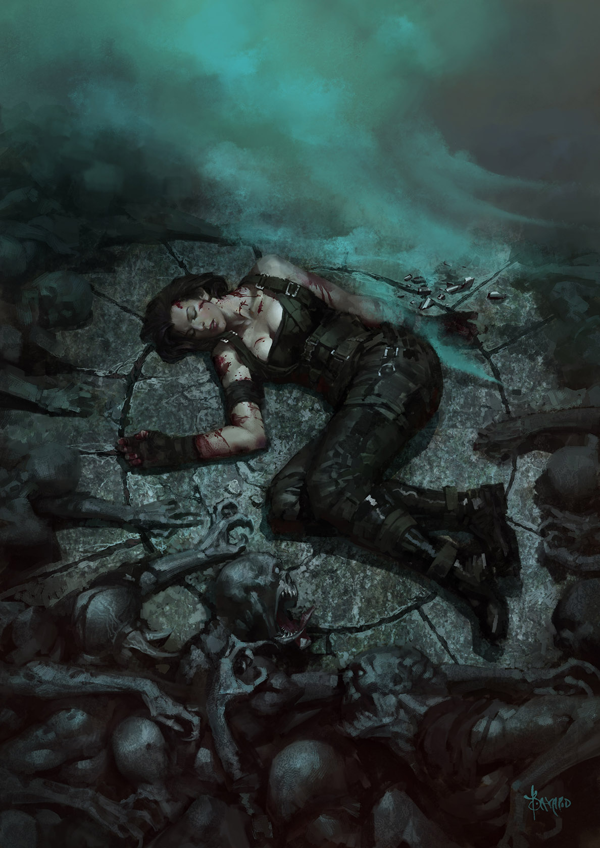 Death of Alice---Resident Evil by bayardwu