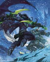 Arthas fighting Illidan by bayardwu