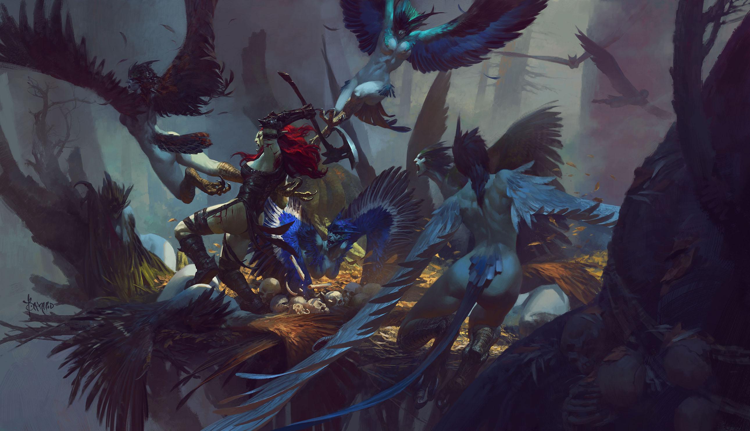 Fighting in the harpy nest