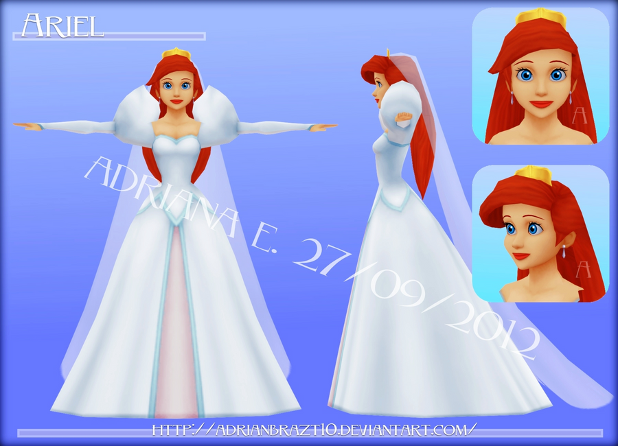 Ariel Wedding Dress HP WIP by Adrianbrazt10 on DeviantArt