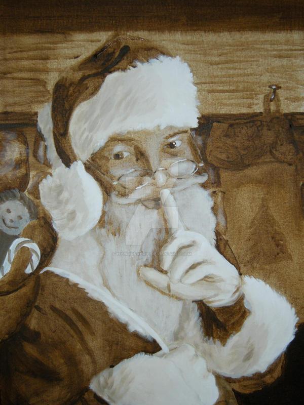 Santa Underpainting by hybridfaerie