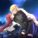 Under the night sky by AoRashi21