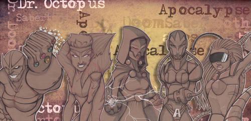 GenderBend Marvel Villains by Pumaboy3d