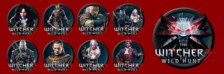 The Witcher 3 - Icon Pack by StreamCustom