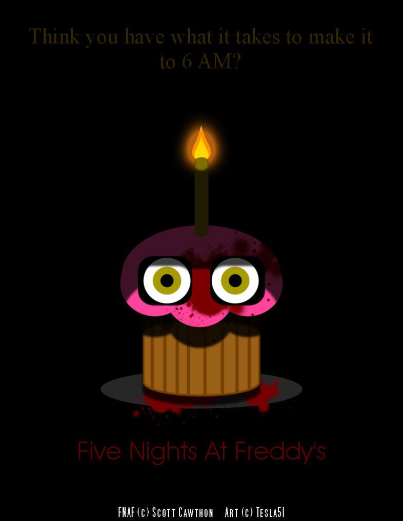 Fnaf poster minimalist cupcake by tesla51 on deviantart