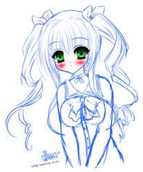 Dakimakura girl sketchie