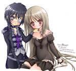 Gothic Lolita and uniform girl