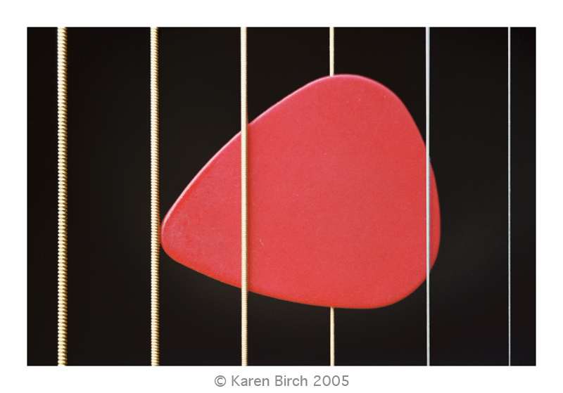 Strings with plectrum