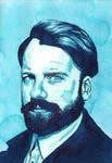 Quink Blue Portrait