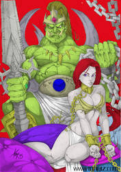Harem Of The Orc King By Tony Tzanoukakis Colored by Kainless