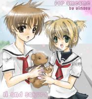 Li And Sakura - AmeAme Arttrad by yinsey
