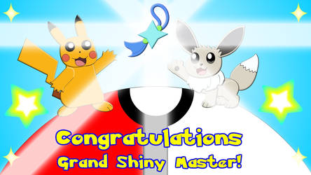Pokemon Let's Go Grand Shiny Master Certificate