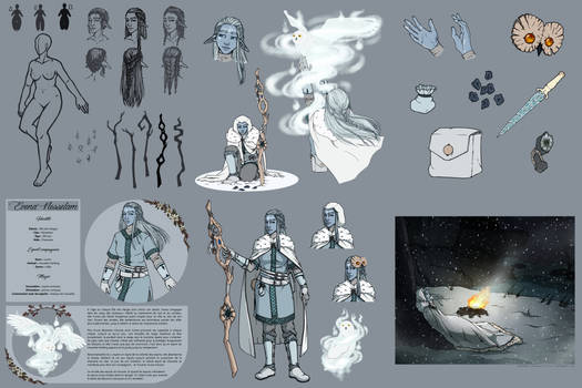 Character Design : Evena Nesselam - Snow Elf