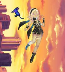 Gravity Rush/Daze - Kat by AmaryllisMizu