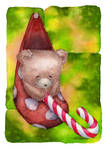 Christmas card - Teddy