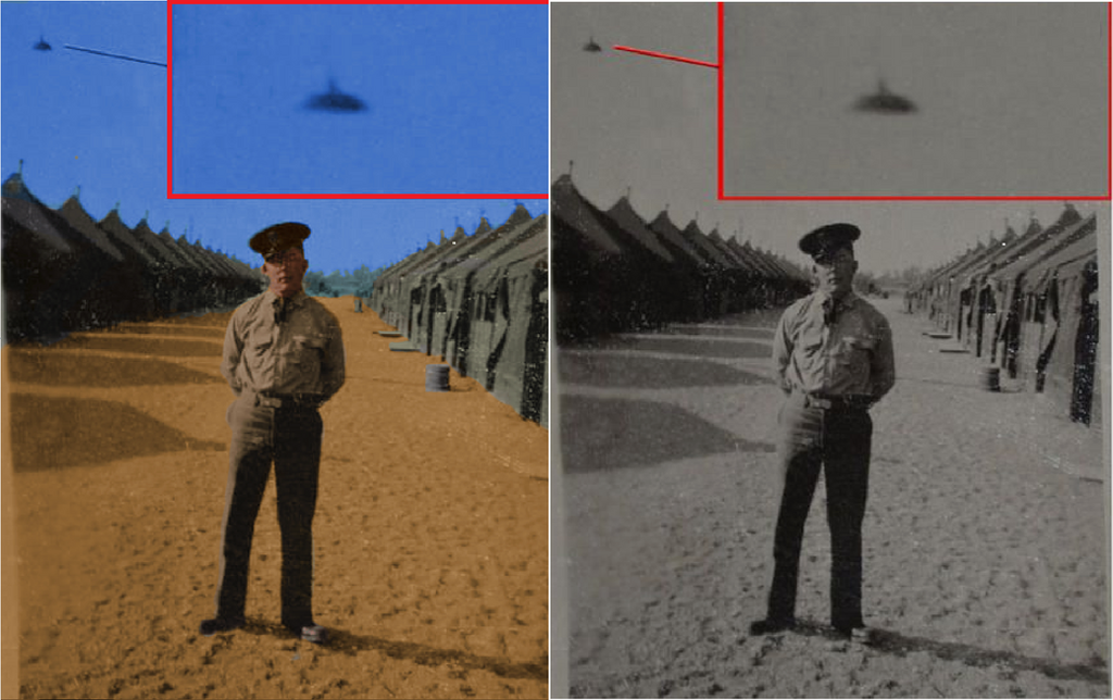 WW2 Army Ufo photo Colorized. by Janeforever