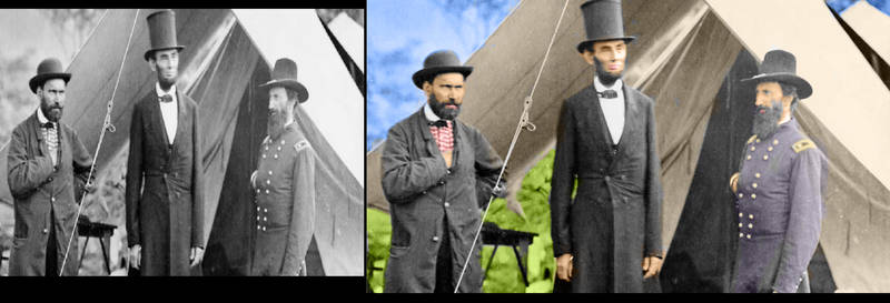 Historic Abraham Lincoln Civil War Photo In color