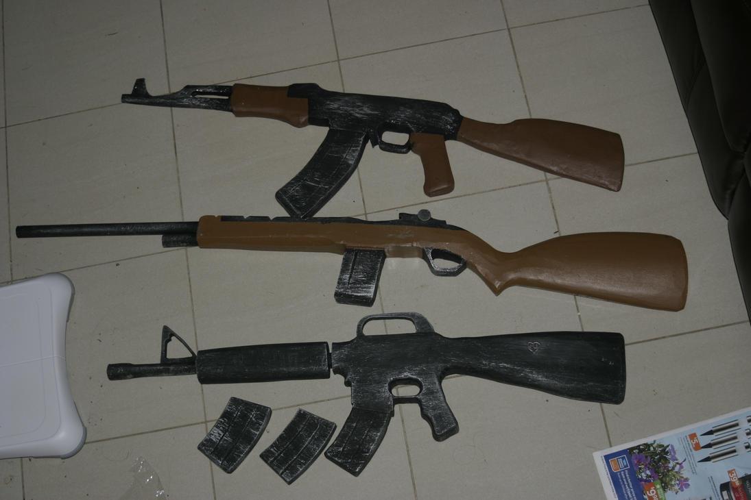 M16 M14 And A Ak 47 By Steamjunkprops On Deviantart