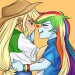 Rainbow Dash X Applejack