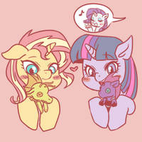 Sunset Shimmer and Twilight Sparkle by raika0306