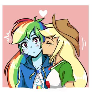 Rainbow Dash X Applejack by raika0306