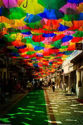 Take a rest under an umbrella heaven by Davinsky
