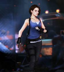 Jill Valentine On Resident Evil Walls Deviantart