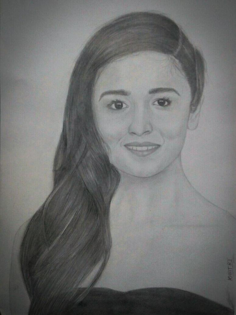 Pencil Sketch Of Alia Bhatt By Khatriarts On DeviantArt