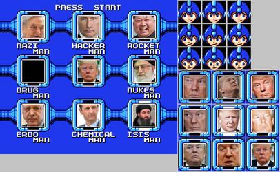 Megaman Trump finish by Ardiana