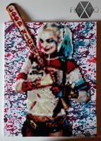 Harley Quinn - Hama, Perler and PP beads by floxido