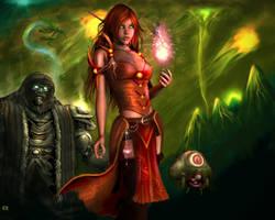 WoW Blood Elf by Karaliina