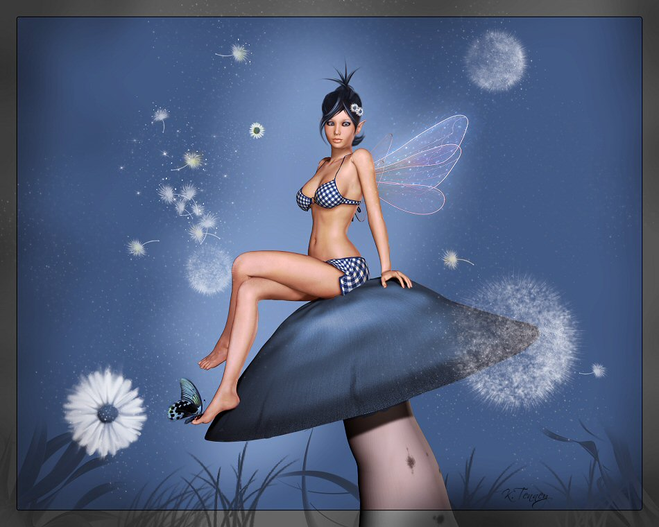Blu Fairy by Karaliina