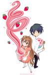 .strawberry milkshake.
