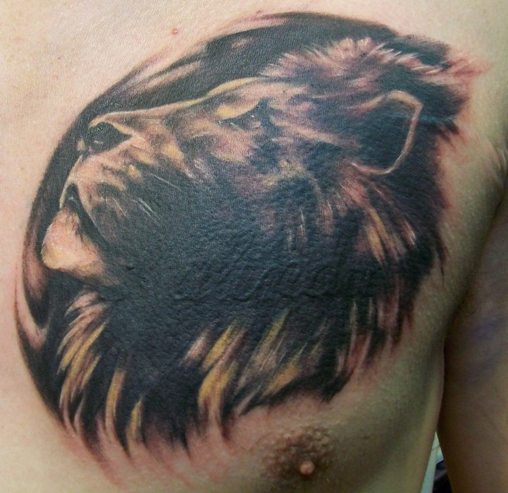 Witch King Tattoo On Guy S Chest: Lion Cover Up By Dripe On DeviantArt