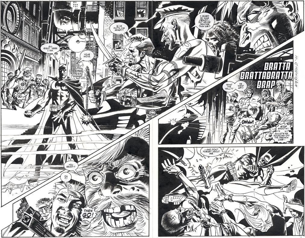 Batman LOTDK 155 pgs.7-8 by BillReinhold