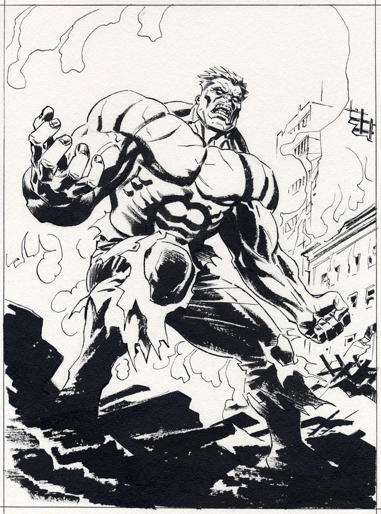 Hulk Face Line Drawing : Red hulk line art by billreinhold on deviantart
