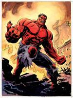 Red Hulk- color by BillReinhold