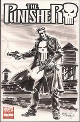 Punisher Blank Variant Cover 1 by BillReinhold
