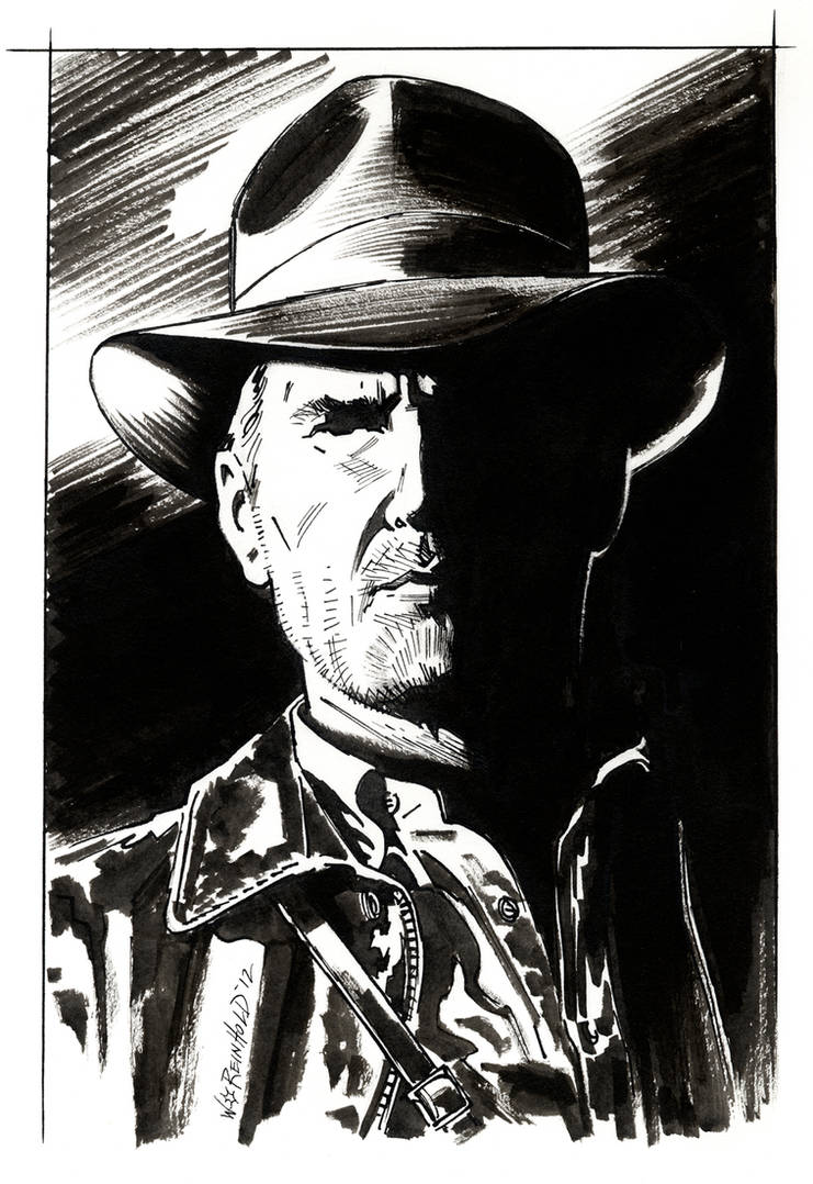 Indiana Jones Portrait by BillReinhold