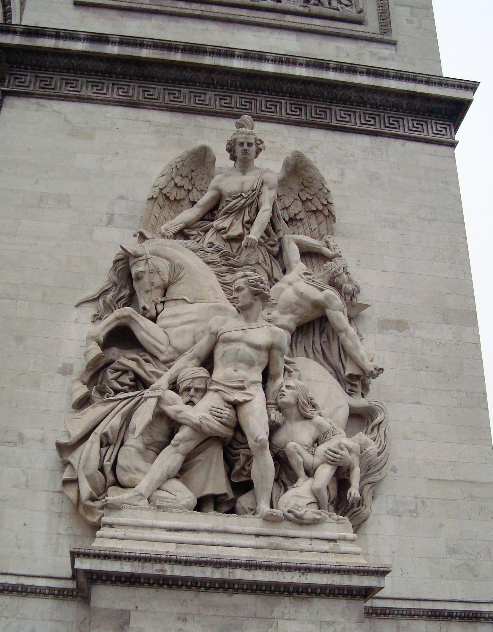 arc de triomphe detailb by billreinhold on deviantart