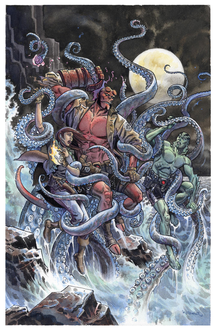 HELLBOY Laocoon by BillReinhold