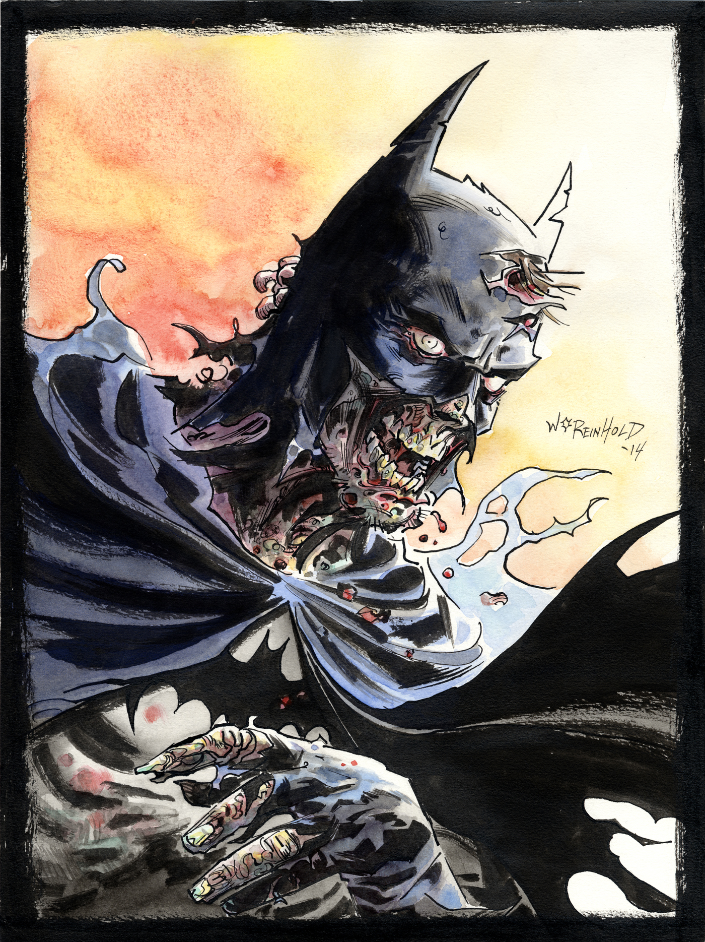 Zombie Batman Comic Batman Zombie by BillR...