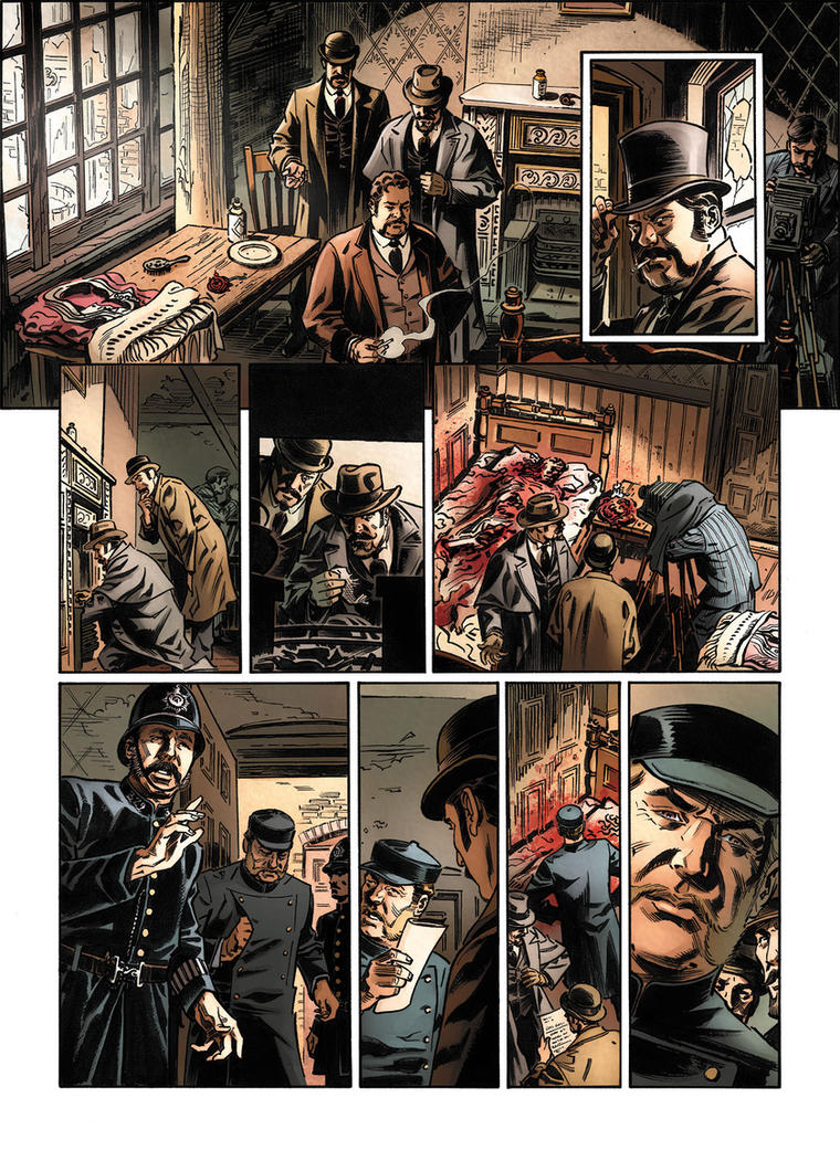 Van Helsing Vs. Jack the Ripper p.18clr by BillReinhold