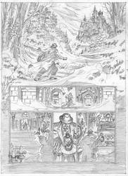 Van Helsing Vs. Jack the Ripper p.1pencil by BillReinhold