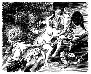 Van Helsing vs. Jack the Ripper-Endpapers by BillReinhold
