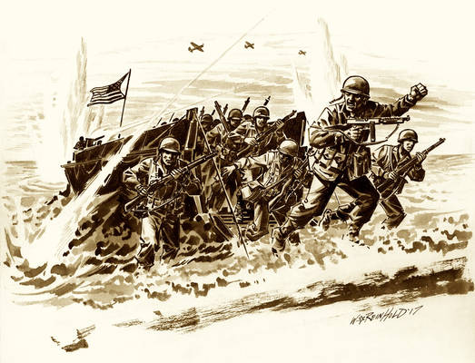 Veterans Day Flying Column Drawing