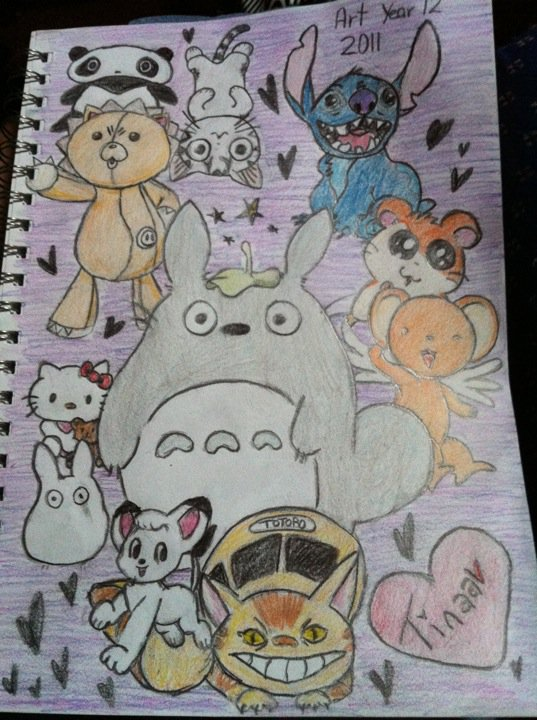 My Art Book Title Page 2011 By Tinytinaa On Deviantart